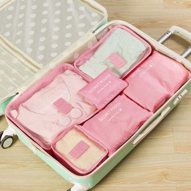 6pcs Travel Organizer Storage  Waterproof Bags - Romance Keeper