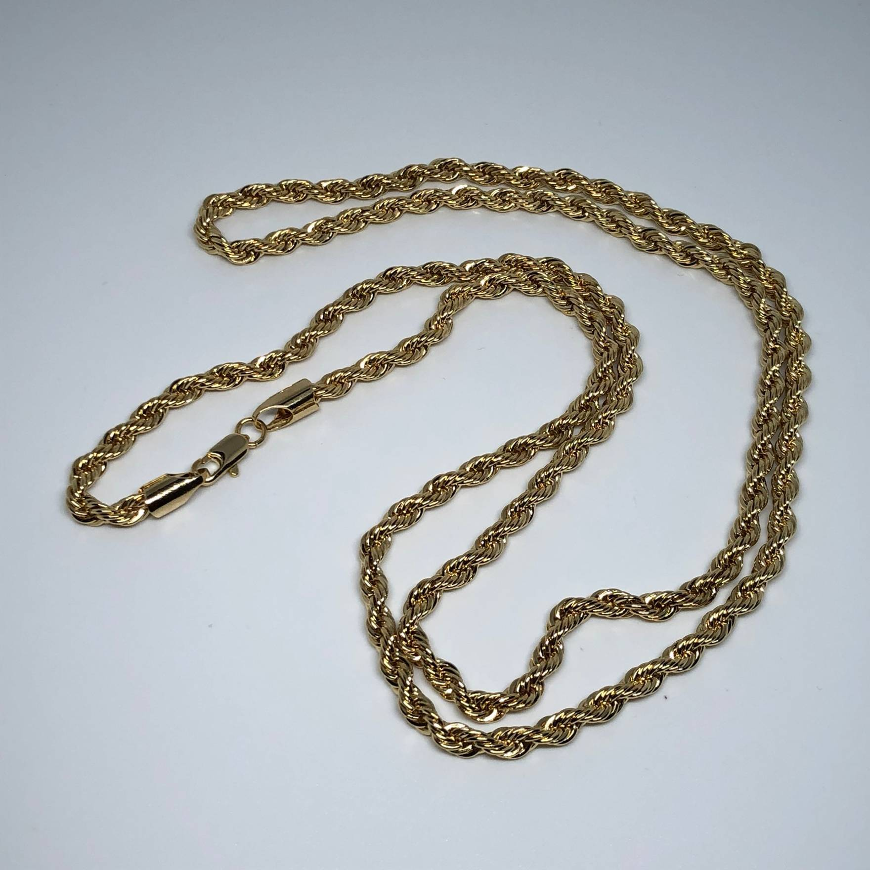 "14k Gold Plated Rope Chain 24"" Inches - TheJewelryGeek"