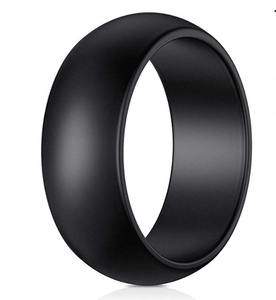 Simple Black Men's Ring - TheJewelryGeek