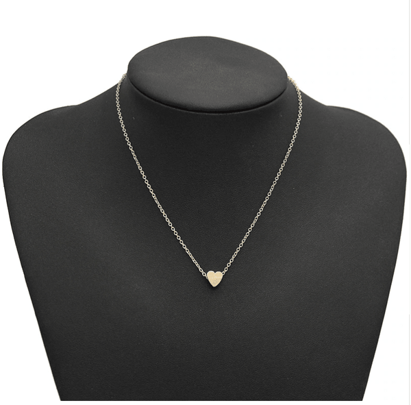Simple Gold Women's Chain Heart Pendant Necklace Choker Jewelry - TheJewelryGeek