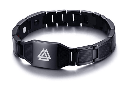 The Borromean- Valknut Carbon Fiber Viking Bracelet - TheJewelryGeek