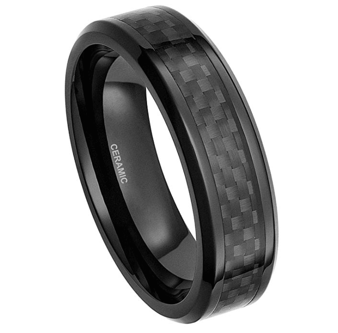 Reu- Men's Carbon Fiber Ring - TheJewelryGeek