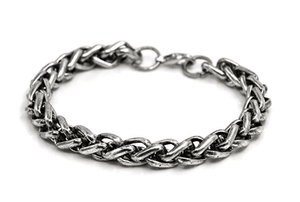 Rhaegar- Rugged Men's Antique Stainless Steel Silver Bracelet - TheJewelryGeek