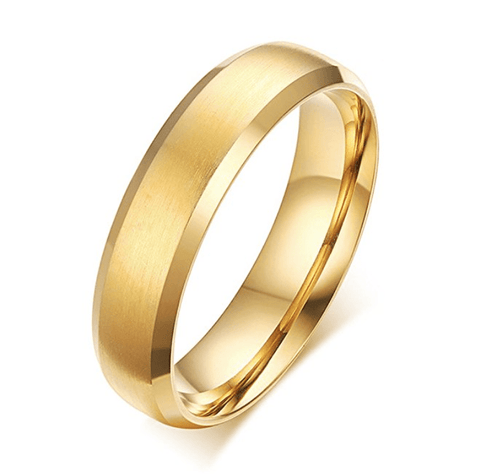 Kibzaim- Simple Gold Wedding Ring Band - TheJewelryGeek