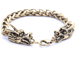 Ammi- Men's Steel Dragon Cuff Bracelet - TheJewelryGeek