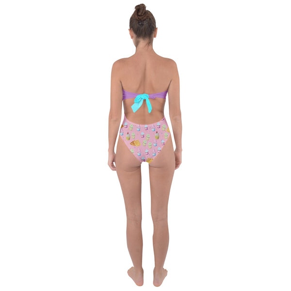 Cupcake Tie Back One Piece Swimsuit