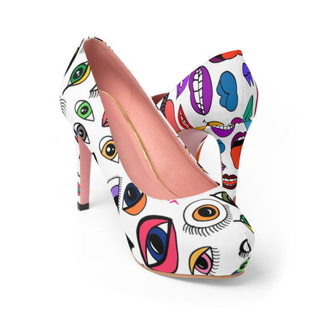 LuLu Lips and Eyez Platform Heels