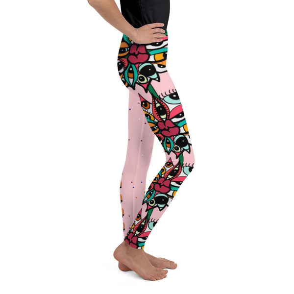 Eye Luv Bouquet Youth Leggings