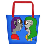 Eye See You Beach Bag By Artysta LuLu