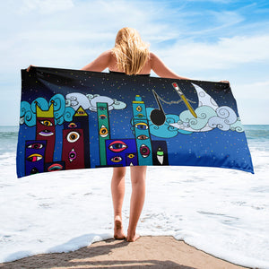 Art Loves Music Beach Towel