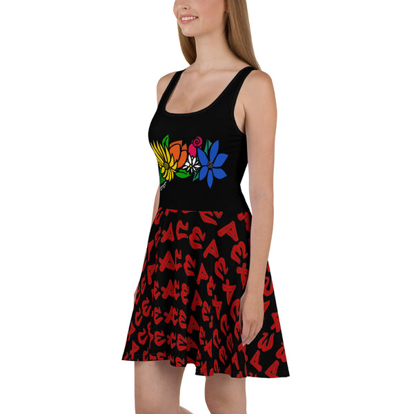 Flower Power Skater Dress