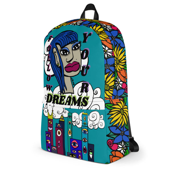 Follow Your Dreams Backpack by Artysta LuLu