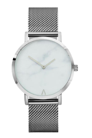 Stainless Steel Marble Quartz Watch