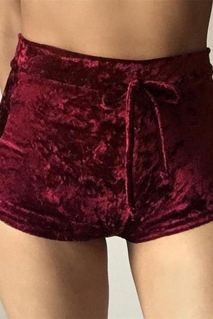 Velvet Date Night Shorts - missee