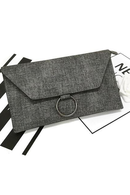 Canvas Ring Clutch