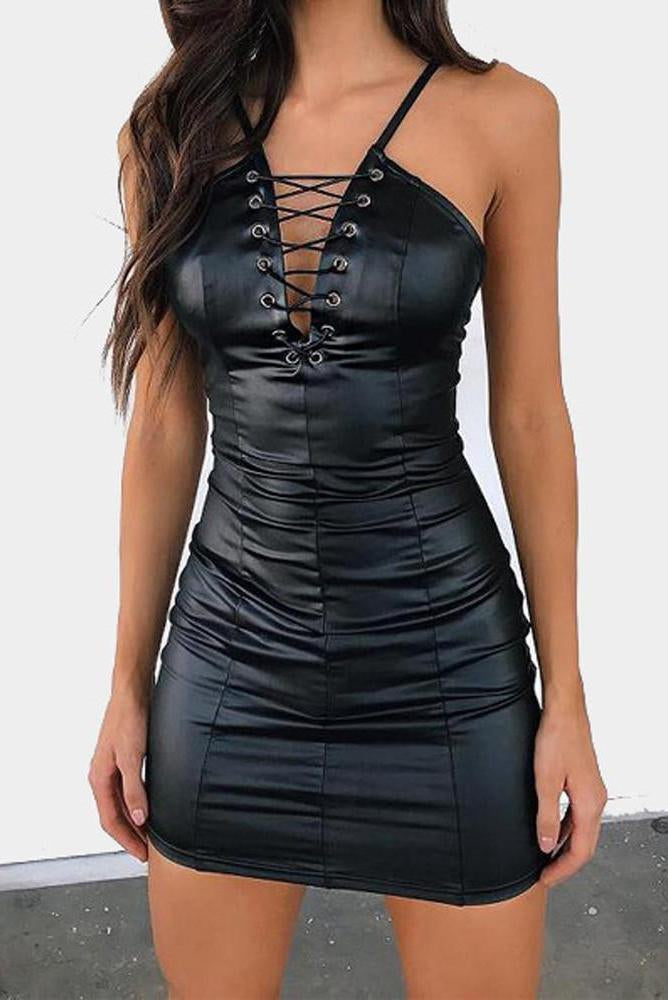 Vegan Leather Vegas Dress - missee