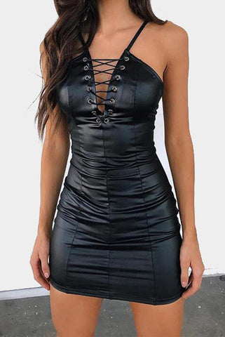 Soft Vegan Leather Dress