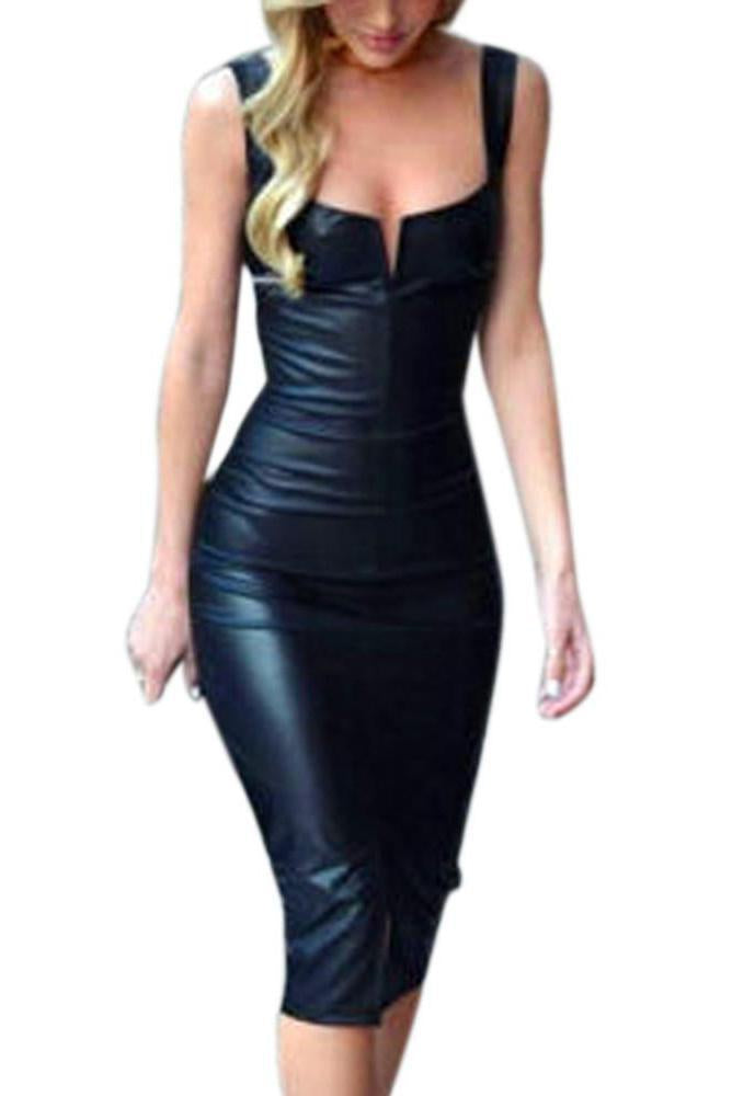 Vegan Leather Club Dress - missee