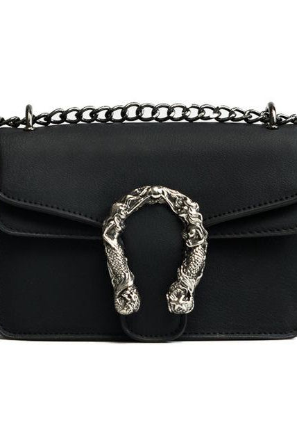 Vegan Leather Horse Shoe Mini Bag