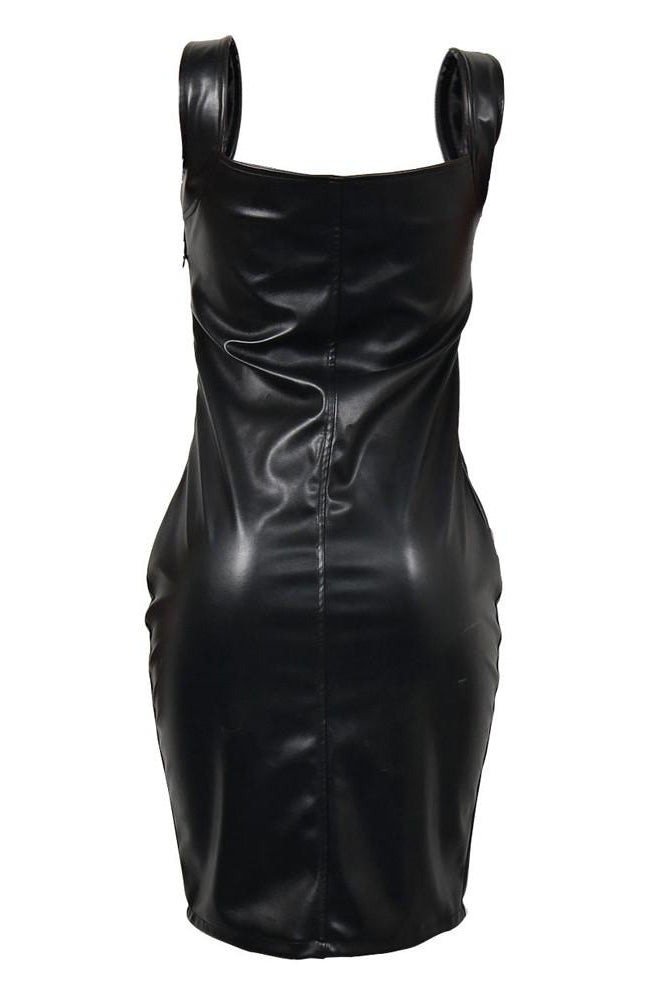 Vegan Leather Kitty Dress