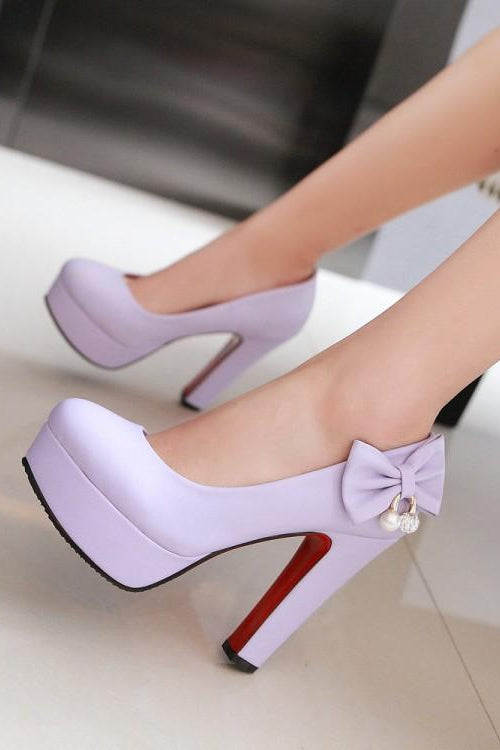 Little Bow Red Bottom Heels