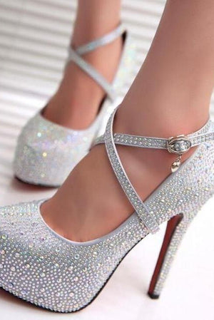 Bling Red Bottom Heels