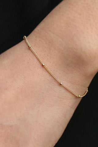 Gold Plated Roman Numeral Bracelet