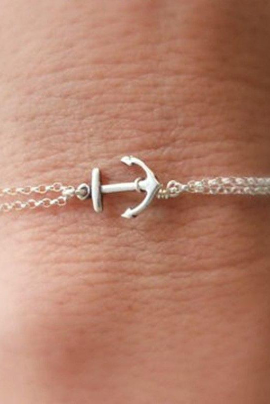 Simple Anchor Bracelet