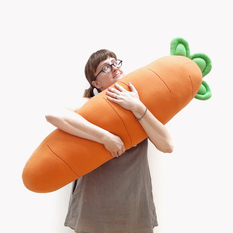 """Chubby"" carrot pillow for a collector."