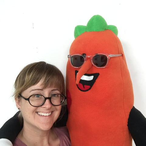 Hearts for Sight Carrot Mascot