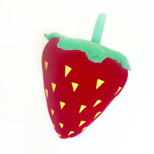 Red Strawberry Fruit Pillow