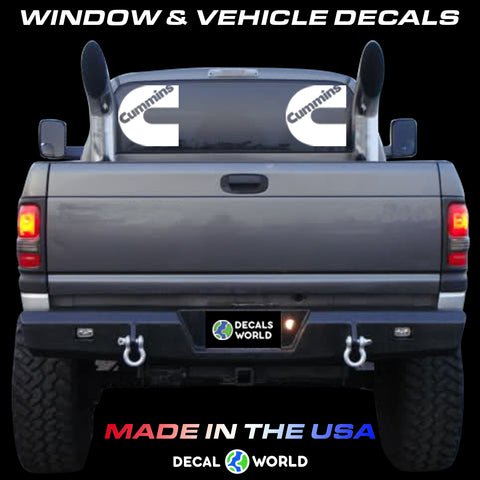 7 inch Cummins Window Dodge Ram Decal (Pair)