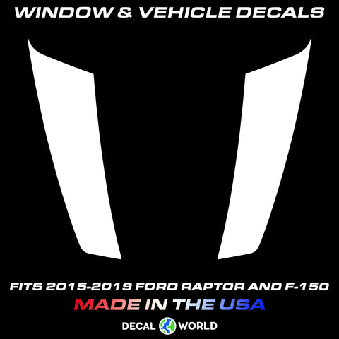 FORD F-150 & Raptor Hood Graphics 2015-2019 - Ford Racing Stripe Decals (#208)