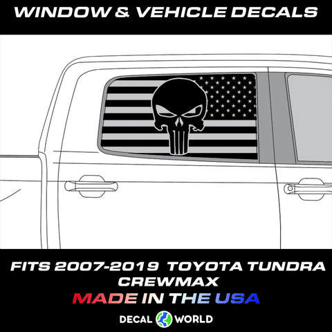 Toyota Tundra CrewMax Truck Bed Side Stripes - Punisher USA Edition