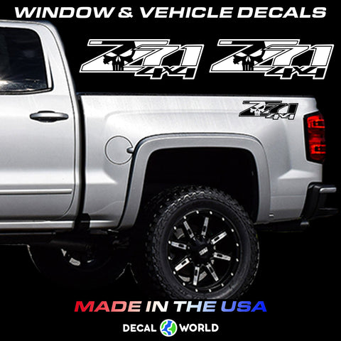 Chevy Z71 Off Road Truck Bed Side - Z71 4x4 Punisher Edition