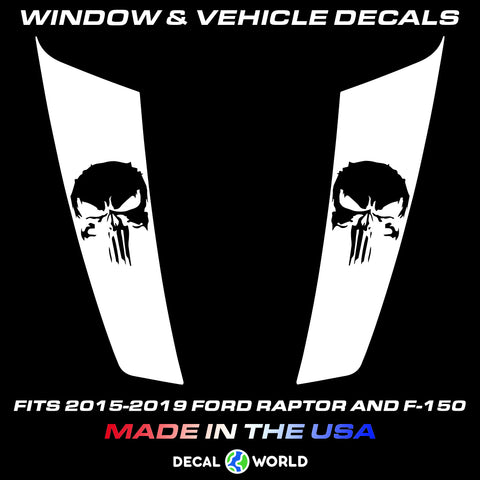 FORD F-150 & Raptor Hood Graphics 2015-2019 - F-150 Punisher Hood Decal (#210)