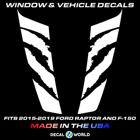 FORD F-150 & Raptor Hood Graphics 2015-2019 - Ford Racing Stripe Decals (#209)