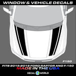 FORD F-150 & Raptor Hood Graphics 2015-2019 - F-150 Hood Decal Graphics (#212)
