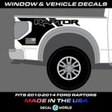 Ford Raptor Bedside Graphics - 2010-2014 Raptor Decals - Raptor Stickers (#304)