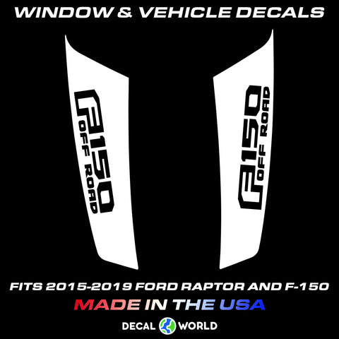 FORD F-150 & Raptor Hood Graphics 2015-2019 - Ford Racing Stripe Decals (#205)