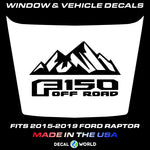 FORD F-150 Raptor SVT Hood Graphics 2015-2019 - Ford Racing Stripe Decals (#103)
