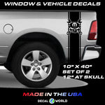 Dodge Ram Vinyl Decal Racing Sticker Stripe Hemi Mopar 5.7L T-223 Skull - 1500 2500 3500