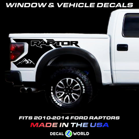 Ford Raptor Bedside Graphics - 2010-2014 Raptor Decals - Raptor Stickers (#308)