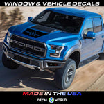 FORD F-150 Raptor SVT Hood Graphics 2015-2019 - Ford Racing Stripe Decals (#105)