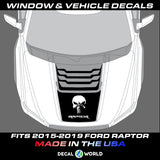 FORD F-150 Raptor SVT Hood Graphics 2015-2019 - Ford Racing Stripe Decals (#106)