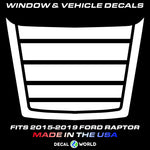 FORD F-150 Raptor SVT Hood Graphics 2015-2019 - Ford Racing Stripe Decals (#107)