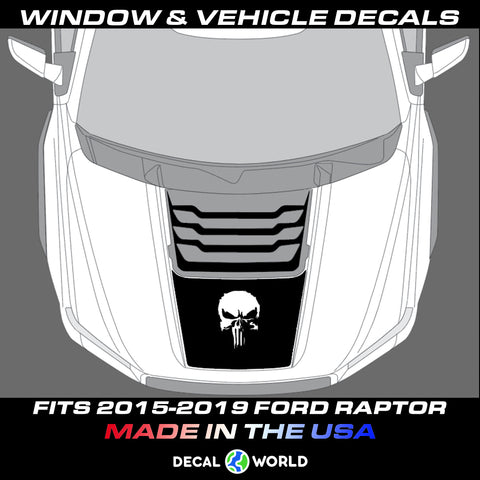 FORD F-150 Raptor SVT Hood Graphics 2015-2019 - Ford Racing Stripe Decals (#112)