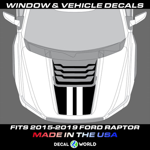 FORD F-150 Raptor SVT Hood Graphics 2015-2019 - Ford Racing Stripe Decals (#114)