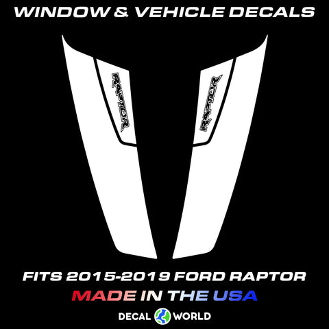 FORD F-150 Raptor Hood Graphics 2015-2019 - Ford Racing Stripe Decals (#206)