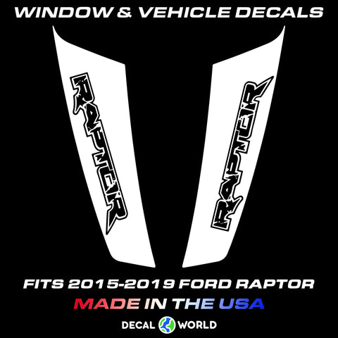 FORD F-150 Raptor Hood Graphics 2015-2019 - Ford Racing Stripe Decals (#207)